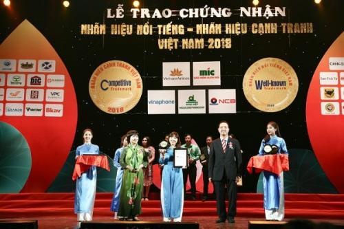 DCL: Vicancap được tôn vinh danh hiệu Nhãn hiệu nổi tiếng năm 2018